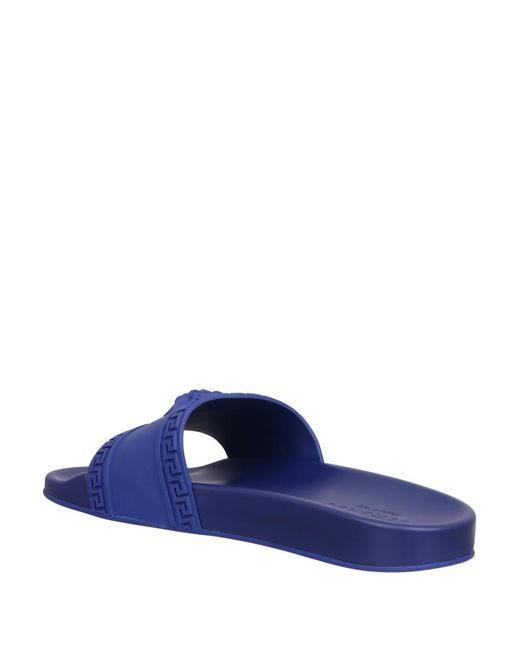 7f9a1a90691a3 Versace Medusa Rubber Slides in Blue for Men - Save 70% - Lyst