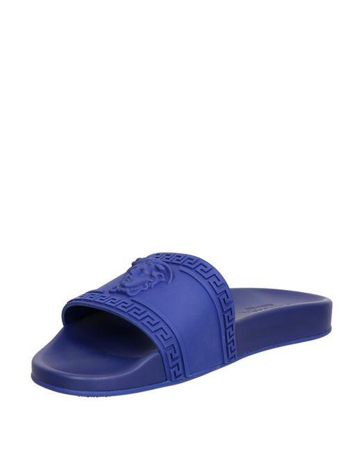 2f189bcfb312 Versace Medusa Rubber Slides in Blue for Men - Save 70% - Lyst