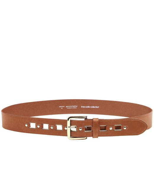 Linea Pelle | Brown Rectangular Ring Hip Belt | Lyst
