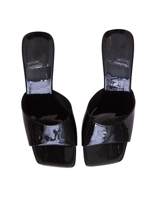 Jeffrey Campbell Black Square-toe Heeled Sandal