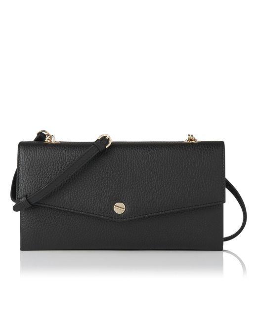 L.K.Bennett | Dakoda Black Grained Leather Shoulder Bag | Lyst
