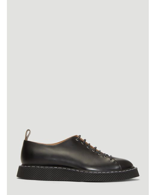 41b836a5dbc Lyst - Jil Sander Topstitched Leather Derby Shoes in Black for Men ...