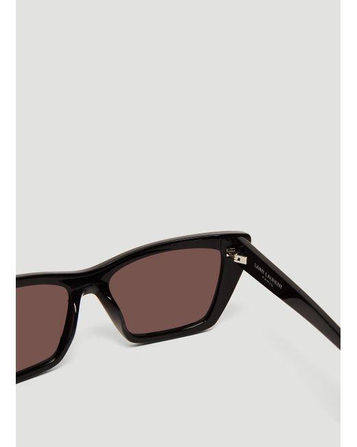 0cbb434cdc Lyst - Saint Laurent Sl 276 Ace Sunglasses In Black in Black for Men