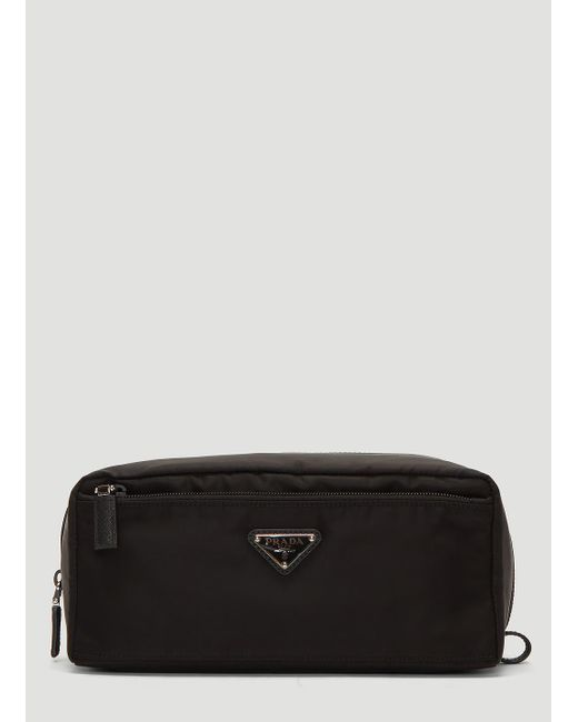 47c37399f2eb Lyst - Prada Nylon Travel Pouch In Black in Black for Men