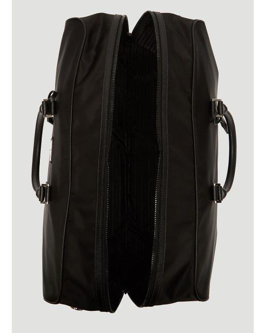 57f7ec47bc11f5 ... Prada - Black Nylon And Saffiano Leather Duffle Bag for Men - Lyst