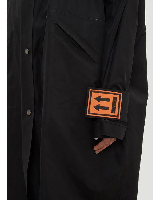 Coat In way CO Off Virgil Black in K Lyst Black Abloh White Long Rain Hzqffv4c