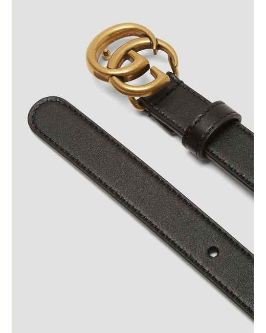 Gucci Multicolor GG Marmont Leather Belt