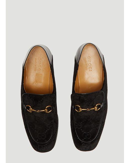 d10dc86dfce ... Gucci - GG Velvet Fold Loafer In Black for Men - Lyst ...