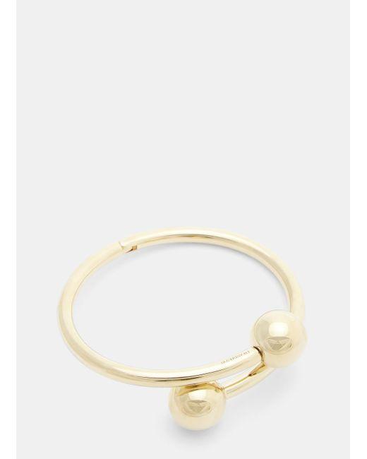 J.W.Anderson Double-sphere gold-plated bracelet 1dGO1WU