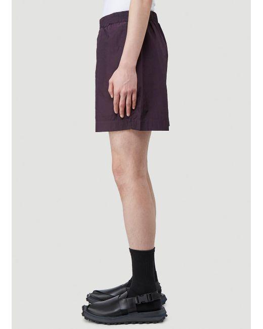 1017 Alyx 9sm Men's Purple Crinkle-effect Swim Trunks