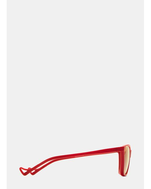 lyst district vision keiichi small sunglasses in red and yellow in White Oakley Sunglasses district vision keiichi small sunglasses in red and yellow for men lyst
