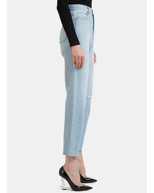 Factory Sale 70s Baggy Knee Jeans Saint Laurent Cheap Sale Largest Supplier Fast Delivery For Sale Free Shipping Prices Shopping Online Original 0uwau4vU