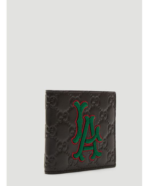 5ff66156998f Gucci La Angelstm Patch Wallet in Black for Men - Save 31% - Lyst