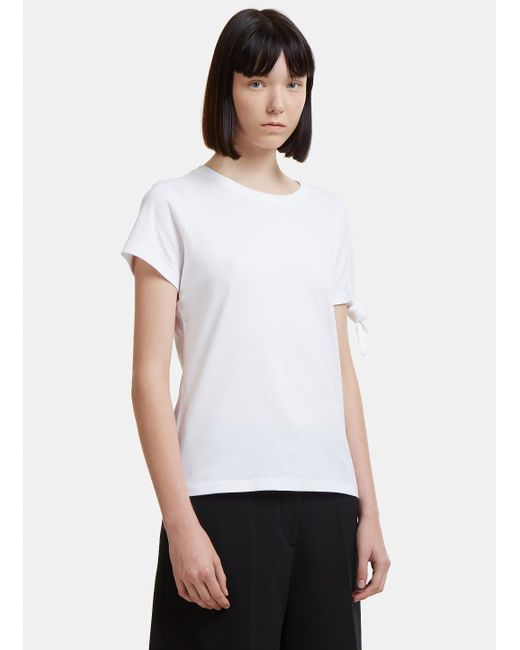 J.W. Anderson - Single Knot T-shirt In White - Lyst