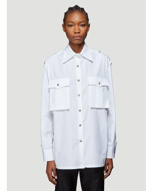 Prada Pocket Shirt In White