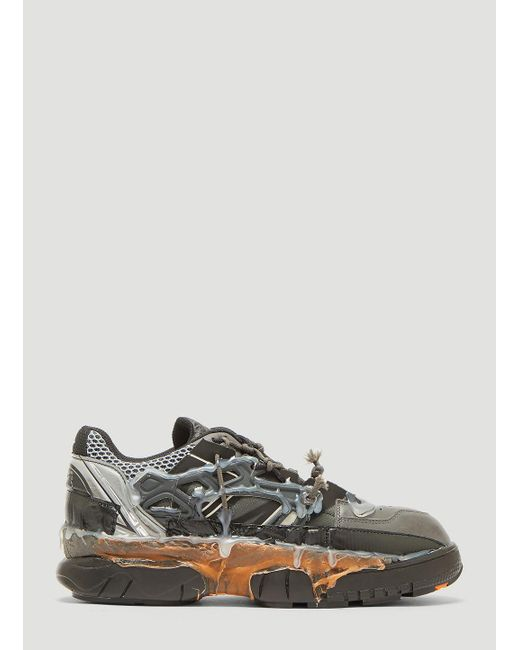 a9d1599370e7 Maison Margiela - Gray Fusion Sneakers In Grey for Men - Lyst ...