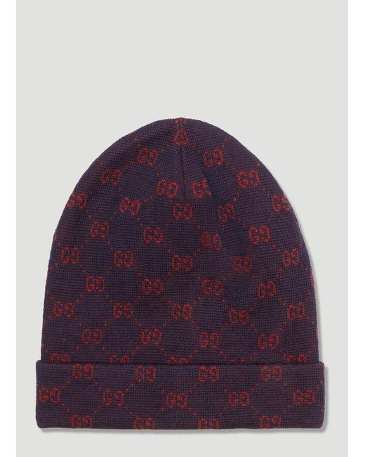 34139a19205 Lyst - Gucci GG Alpaca Wool Hat In Navy in Blue for Men - Save 40%
