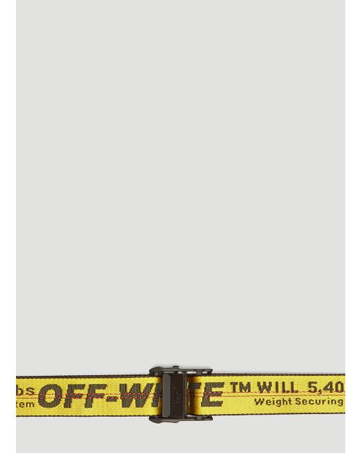 Off-White c/o Virgil Abloh Industrial Web Belt In Yellow