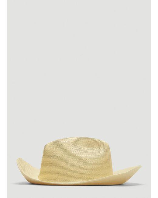 d1cc56e356b5d ... Gucci - Papier Wide Brim Hat In White - Lyst ...