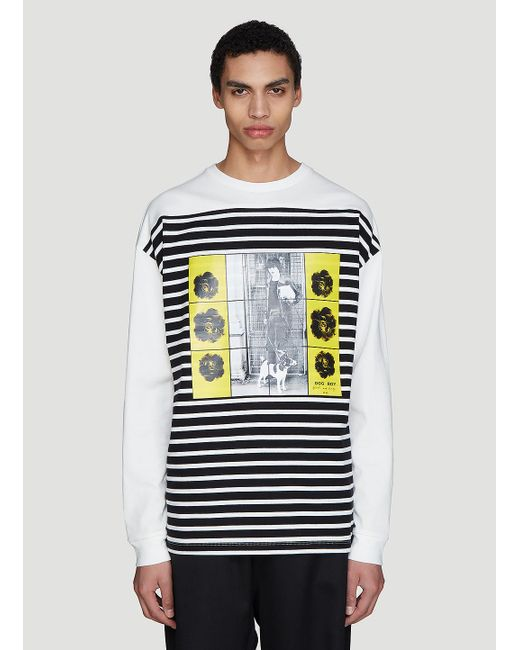 J.W. Anderson X Gilbert & George Dog And Boy T-shirt In White for men