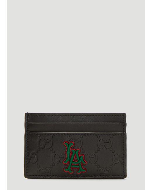 594176be Men's Black La Angels Edition GG Card Holder