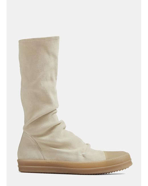 Rick Owens - Natural Sock Sneaker Boots In Beige - Lyst