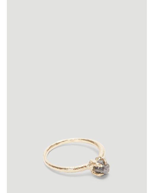 Pearls Before Swine Metallic Raw Diamond Ring In Gold for men