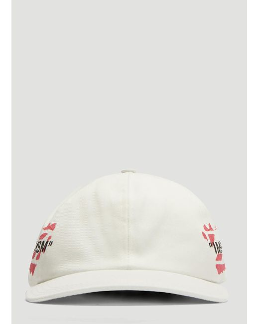 26e572ef936 Lyst - Off-White c o Virgil Abloh Stencil Baseball Cap In White in ...