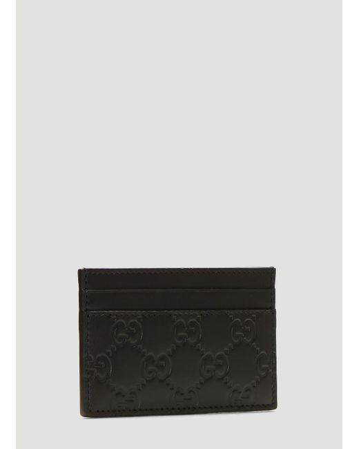 e07b0b4b9f ... Gucci - GG Credit Card Holder In Black for Men - Lyst ...
