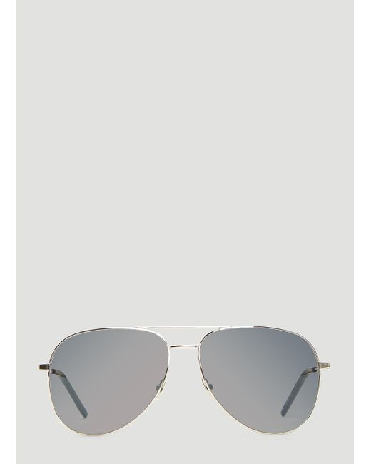 4453aa8bb1d3 Saint Laurent - Metallic Classic 11 Sunglasses In Silver for Men - Lyst ...
