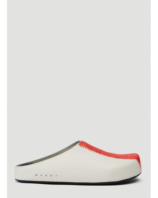 Marni Multicolor Male Red 100% Leather. for men