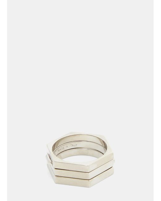 Valentino - Metallic Secret Two Way Ring In Silver - Lyst