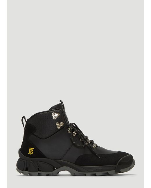 Burberry Henfield Hiking Boots In Black for men