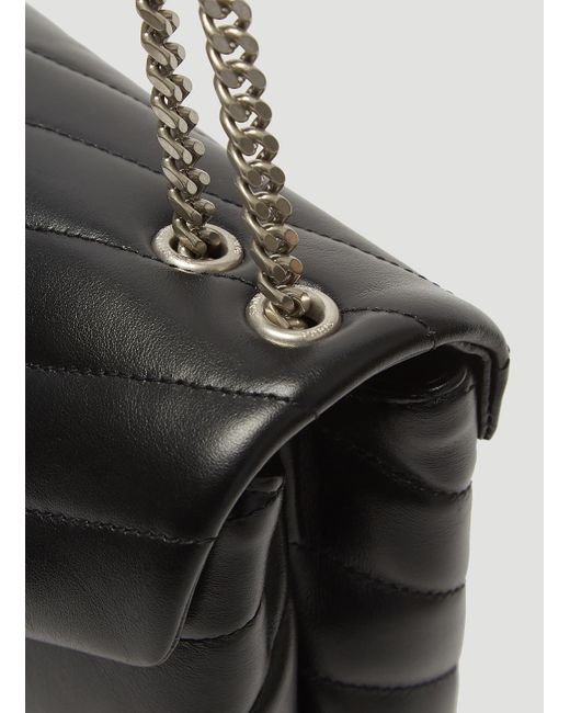 ... Saint Laurent - Y-quilted Lou Lou Bag In Black - Lyst ... fa8a786fad289