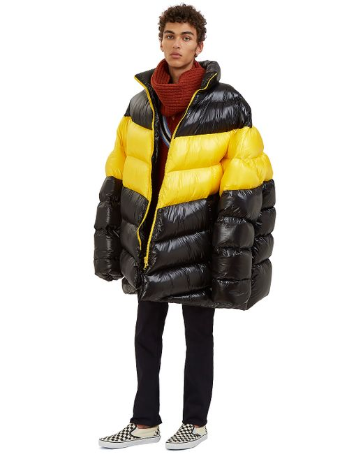 Raf Simons Men S Oversized Down Quilted Jacket In Black