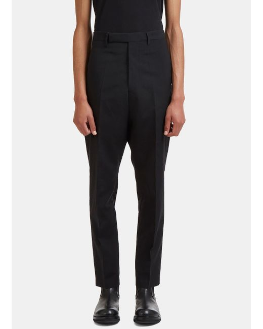 Rick Owens   Astaires Straight Leg Rear Strap Pants In Black for Men   Lyst