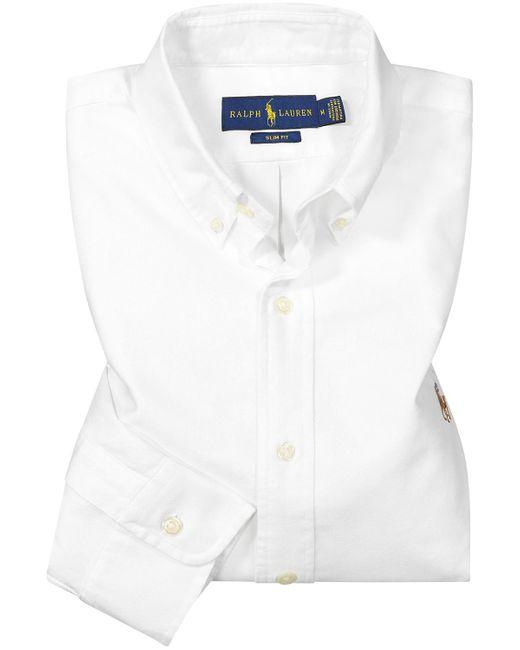 Polo Ralph Lauren Casualhemd Slim Fit Oxford in White für Herren