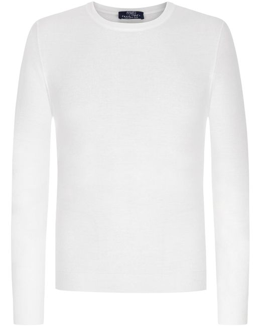 Fedeli Argentinia M.L Pullover in White für Herren
