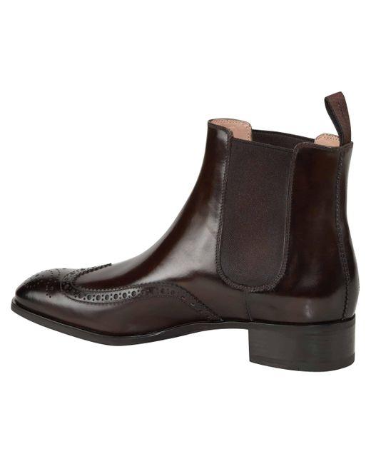 Santoni Brown Les Elodie Chelsea Boots