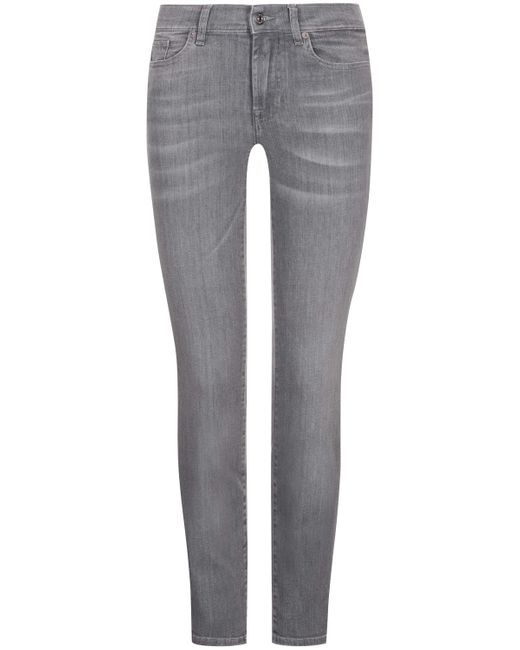 7 For All Mankind Gray Roxanne Jeans Slim