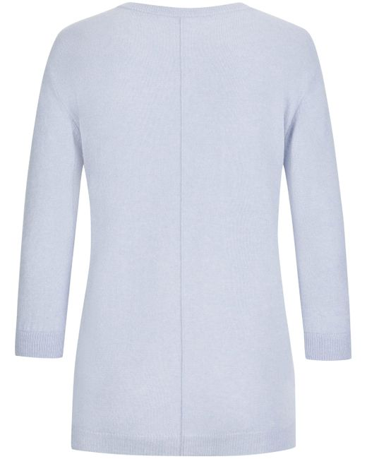 The Mercer N.Y. Blue Cashmere-Pullover