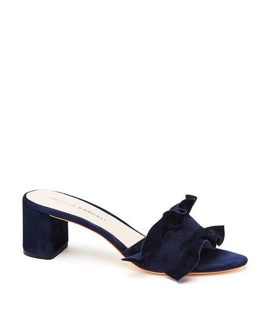 Loeffler Randall | Blue Vera Ruffle Slide Sandal | Lyst