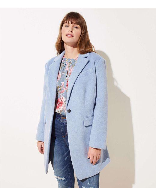 LOFT Blue Modern Coat