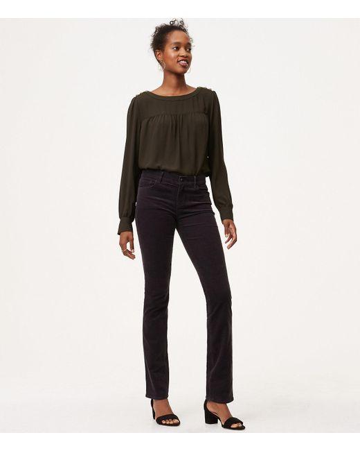 LOFT | Gray Modern Straight Leg Corduroy Pants | Lyst