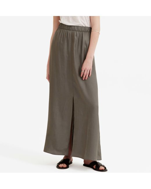 loft lou grey luster maxi skirt in multicolor organic