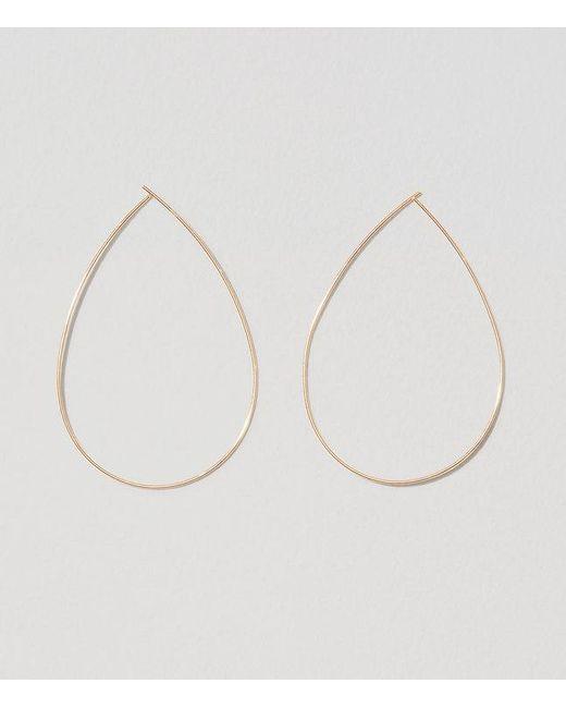 LOFT | Metallic Sculptural Hoop Earrings | Lyst