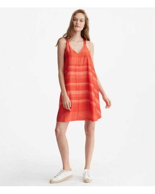 LOFT | Red Lou & Grey Striped Luster Swing Dress | Lyst
