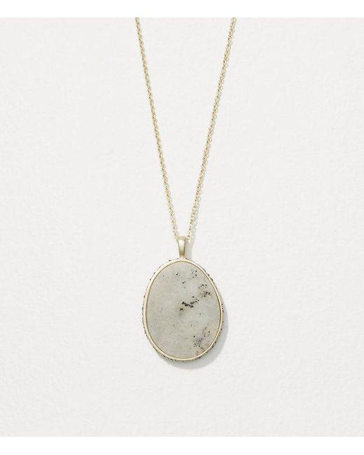 LOFT   Metallic Reversible Pendant Necklace   Lyst