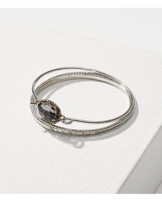 LOFT | Metallic Sparkle Bangle Bracelet Set | Lyst