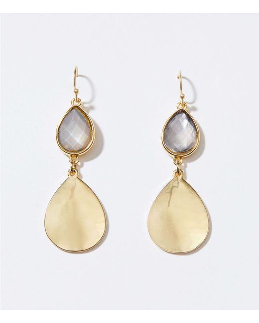 LOFT - Metallic Gem Drop Earrings - Lyst